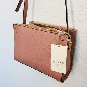 NWT | A new day blush small shoulder bag